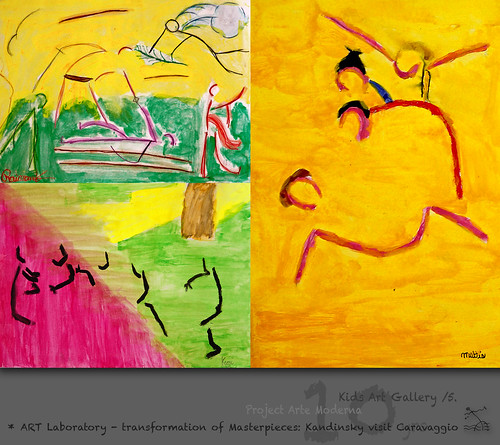 KidsArt 10yrs) _5* ART Laboratory - transformation of Masterpieces: Kandinsky visit Caravaggio /energy lines by SeRGioSVoX