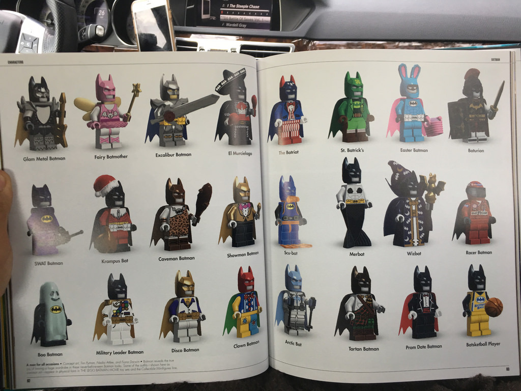 The LEGO Batman Movie: The Making Of The Movie book images posted by legozebra reveal some concepts and alternate designs for characters and vehicles.