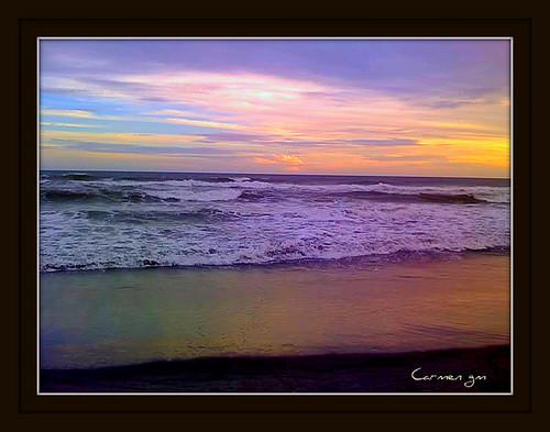 costa atardecer mar playa costadelsol elsalvador olas océano
