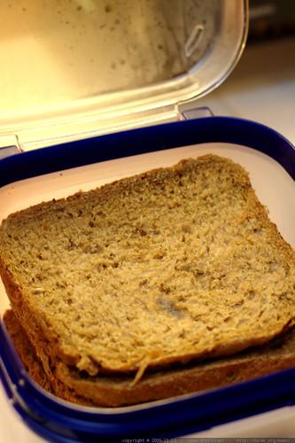 home made vegan rye bread    MG 9108