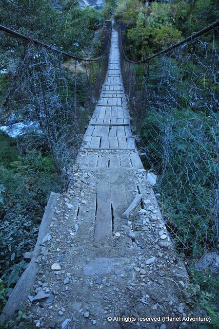 Suspension Bridge - Annapurna Circuit Trek - Nepal