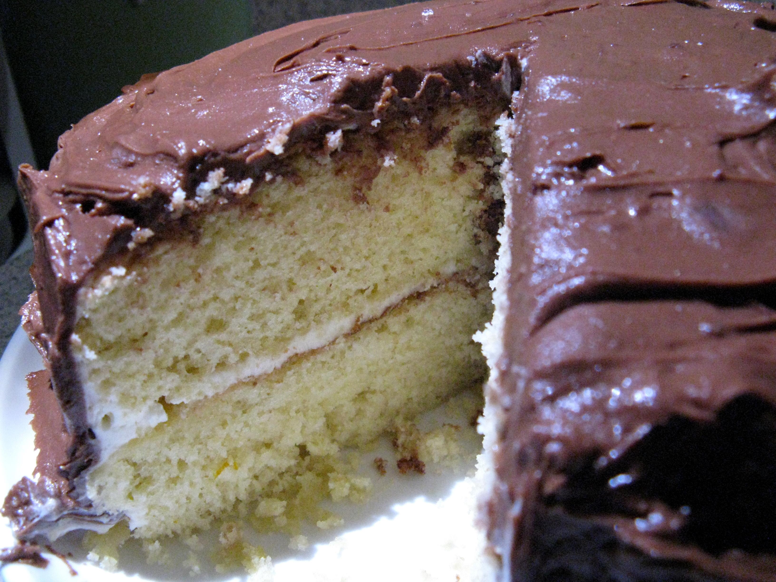 Chocolate Cake With Chocolate-Orange Frosting Recipe — Dishmaps