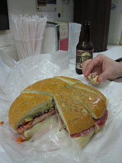 Famous muffulettas at Central Grocery in the French Quarter