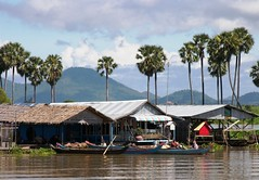 Life on the water - Water Village on Tonle Sap