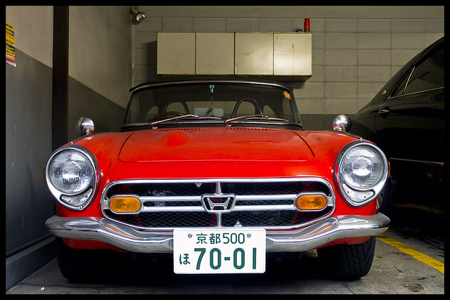 Honda S800 in a Gion garage