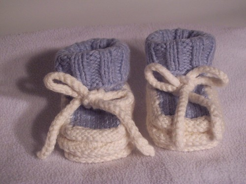 Norse-Borgen All White Base Baby Booties (Boy's)