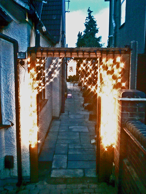 Wedding Gate Ilford Curtain Lights LED Lights A Wedding Entrance