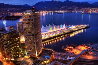 Vancouver Waterfront and the North Shore Mountains (HDR)