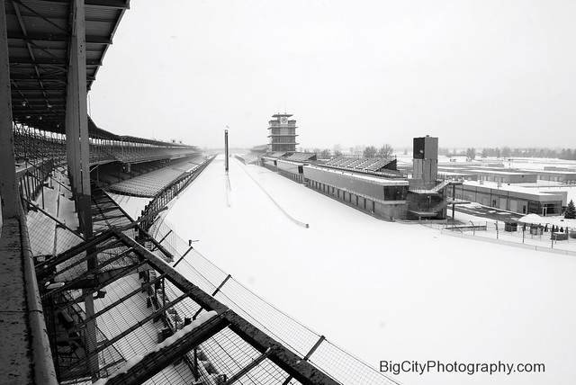 Indianapolis Motor Speedway In The Snow Flickr Photo