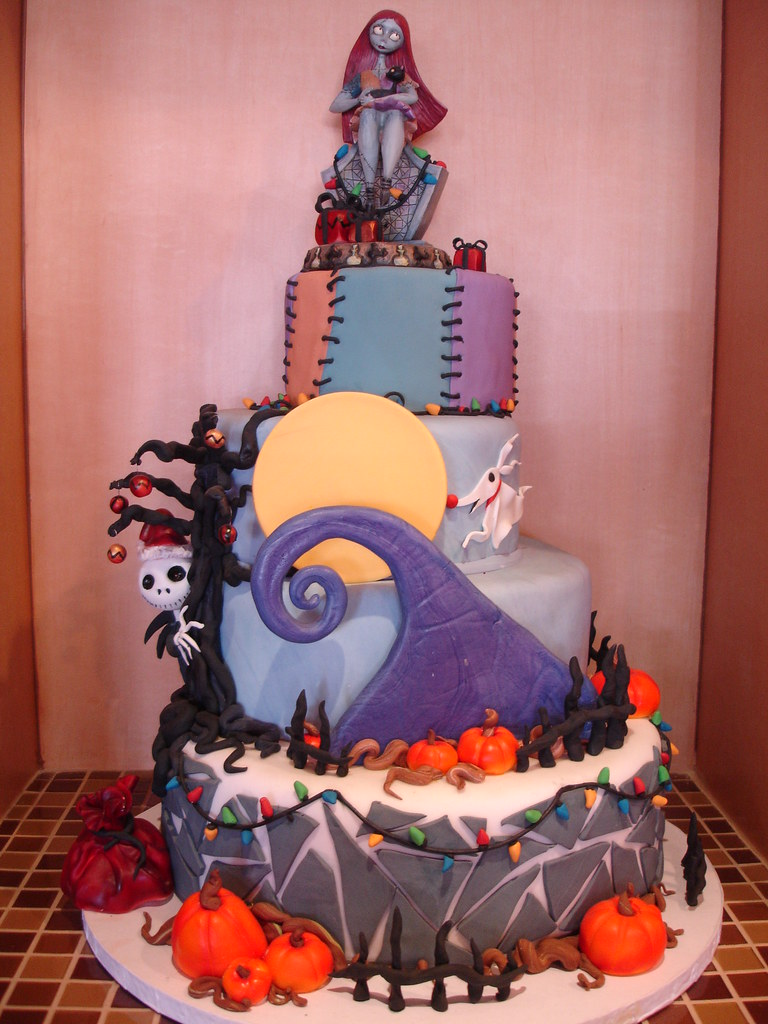 Nightmare Before Christmas Cake A Photo On Flickriver