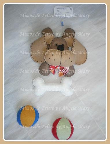 Cão,seus brinquedos e um ossinho.... by ♥ Mimos de Feltro by Angela Mary® ♥