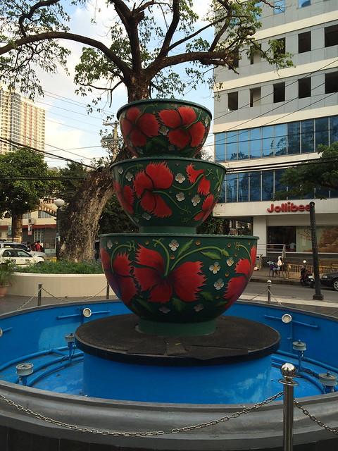 Fountain at the Plaza Nuestra Senora de Guia