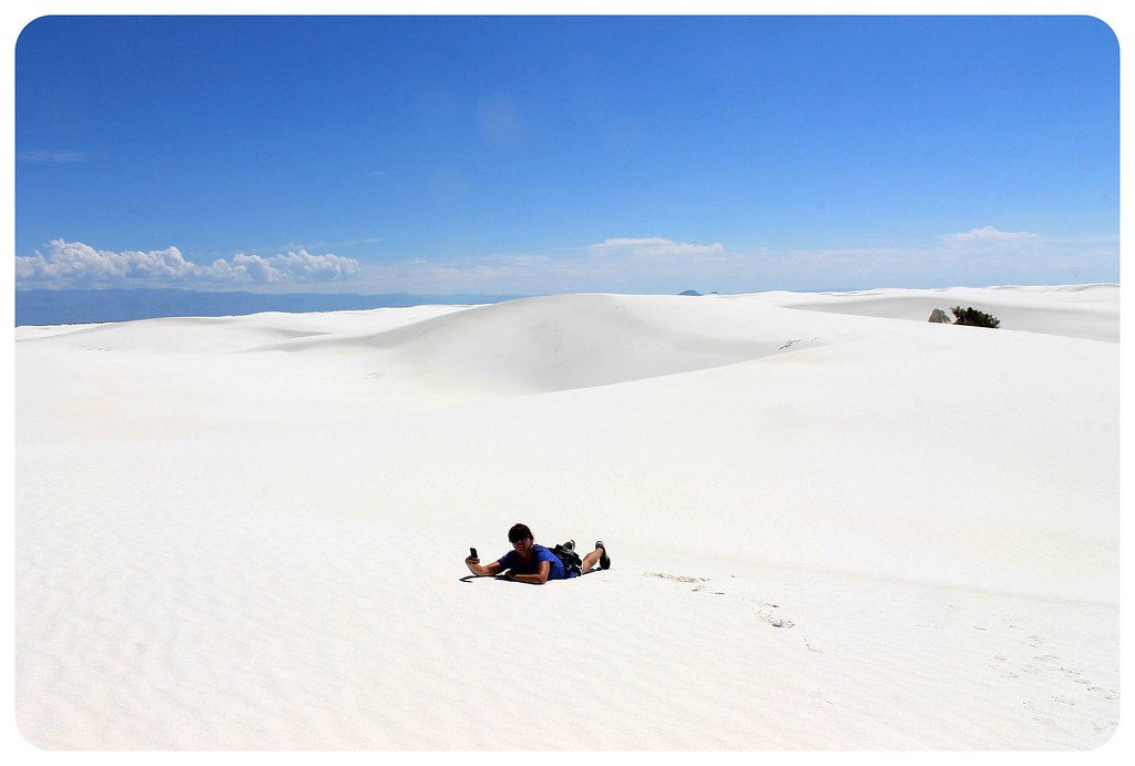 White Sands New Mexico jess laying