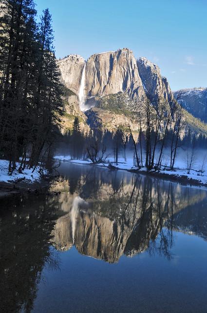 Morning Sun on Yosemite Falls