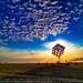 Groovik's Cube, Sunrise, Burning Man 2009 by Michael Holden