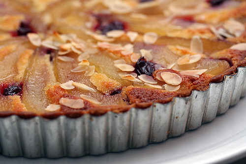 french pear tart with cherries | Flickr - Photo Sharing!
