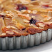 french pear tart with cherries