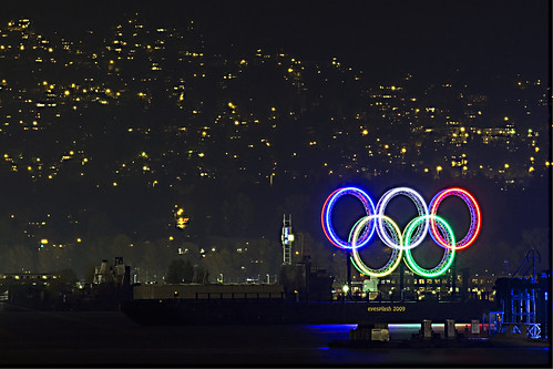 The olympic advertisement display