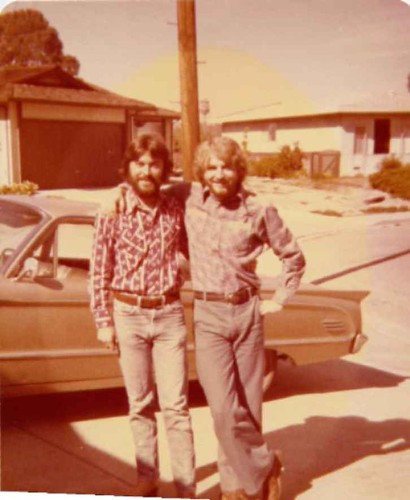 my brother Mike and me 1977