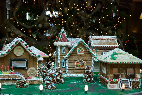 Gingerbread village at Koele