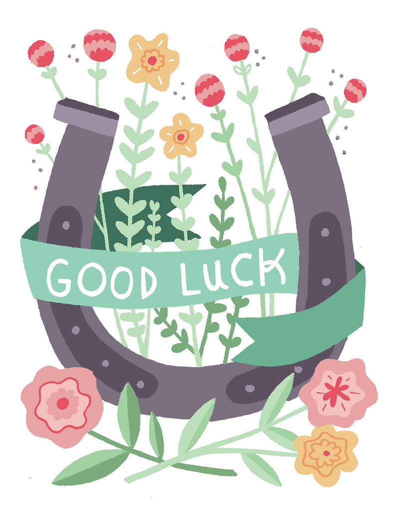 Accomplished image in free printable good luck cards
