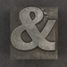 Caslon metal type ampersand &