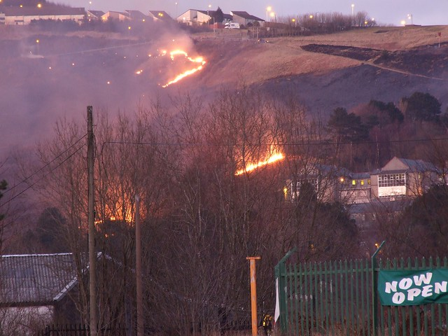 LLwynypia Penrhys Mountain Fire 1