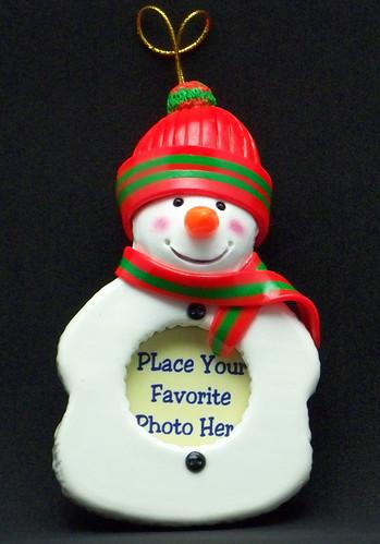 Snowman Photo Ornament