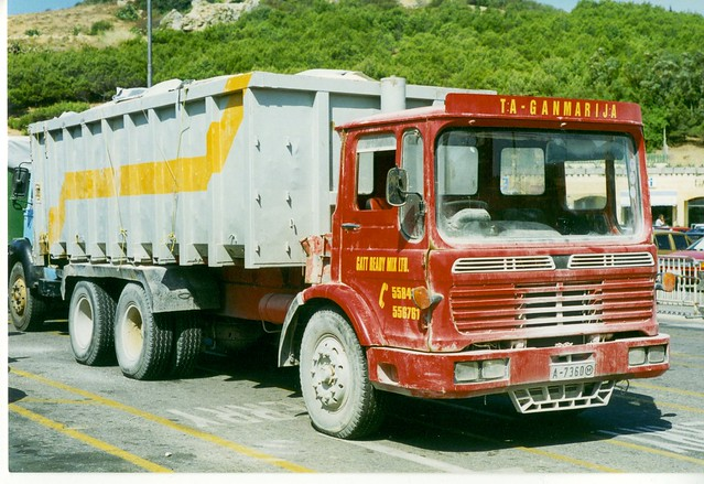 A-7360 AEC-Leyland 6 wheeler tipper - Gatt Ready Mix Ltd - Mgarr Ferry Terminal - Gozo
