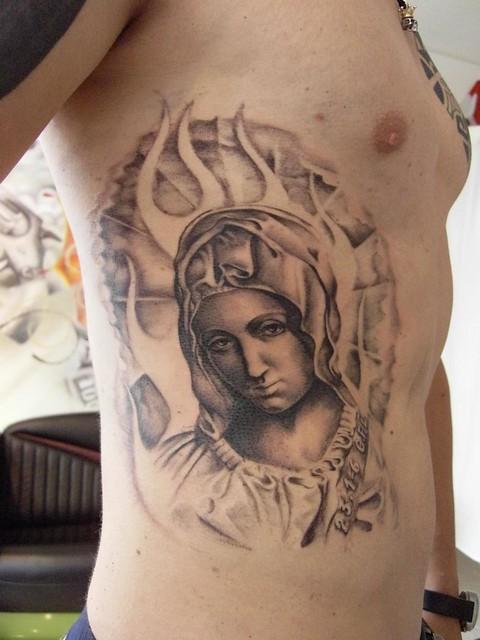 madonna tattoo by maze santa sangre cologne flickr photo sharing. Black Bedroom Furniture Sets. Home Design Ideas