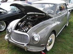 mid-size car(0.0), compact car(0.0), sedan(0.0), convertible(0.0), automobile(1.0), vehicle(1.0), automotive design(1.0), dkw 3=6(1.0), antique car(1.0), classic car(1.0), vintage car(1.0), land vehicle(1.0), luxury vehicle(1.0), sports car(1.0),
