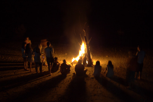 Bumfire on the beach