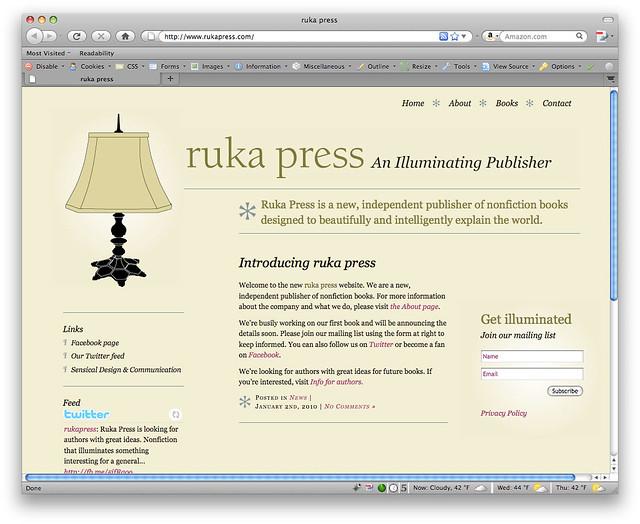 Ruka Press Website