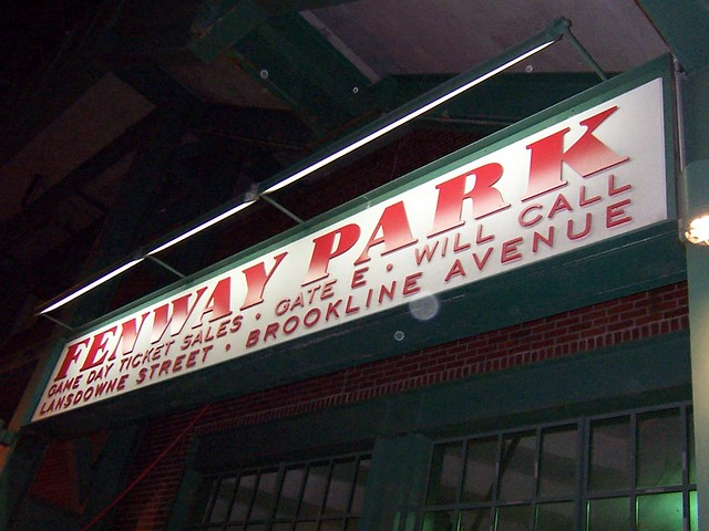 the fenway sign