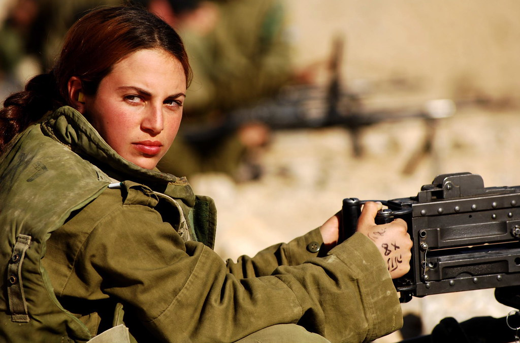 Female Soldier at the Shooting Range