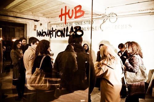 Un reunión de Hub Madrid