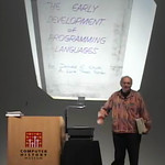 Donald Knuth Gives an Old School Presentation