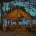 Uma das cabanas feita de palha, onde podemos almoçar na praia de Ponta de Pedras Santarém Pará Amazonia Brasil. by lubasi