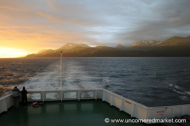 Sunset on the First Night - Boat to Antarctica