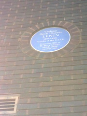 Photo of Vladimir Lenin blue plaque