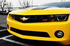 chevrolet, automobile, automotive exterior, yellow, vehicle, automotive design, grille, bumper, land vehicle, chevrolet camaro,