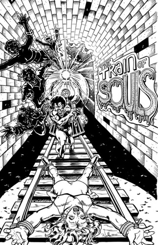 AFRODISIAC-Train of Souls (line-art)