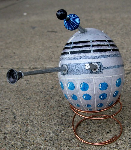 Dalek egg frontal view