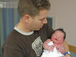 Dad with newborn Gavin