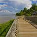 Boardwalk At Chesapeake Beach by Cheryl Atkins