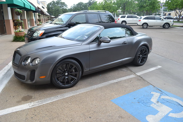 Matte Black Bentley Continental Gt Supersports Convertible