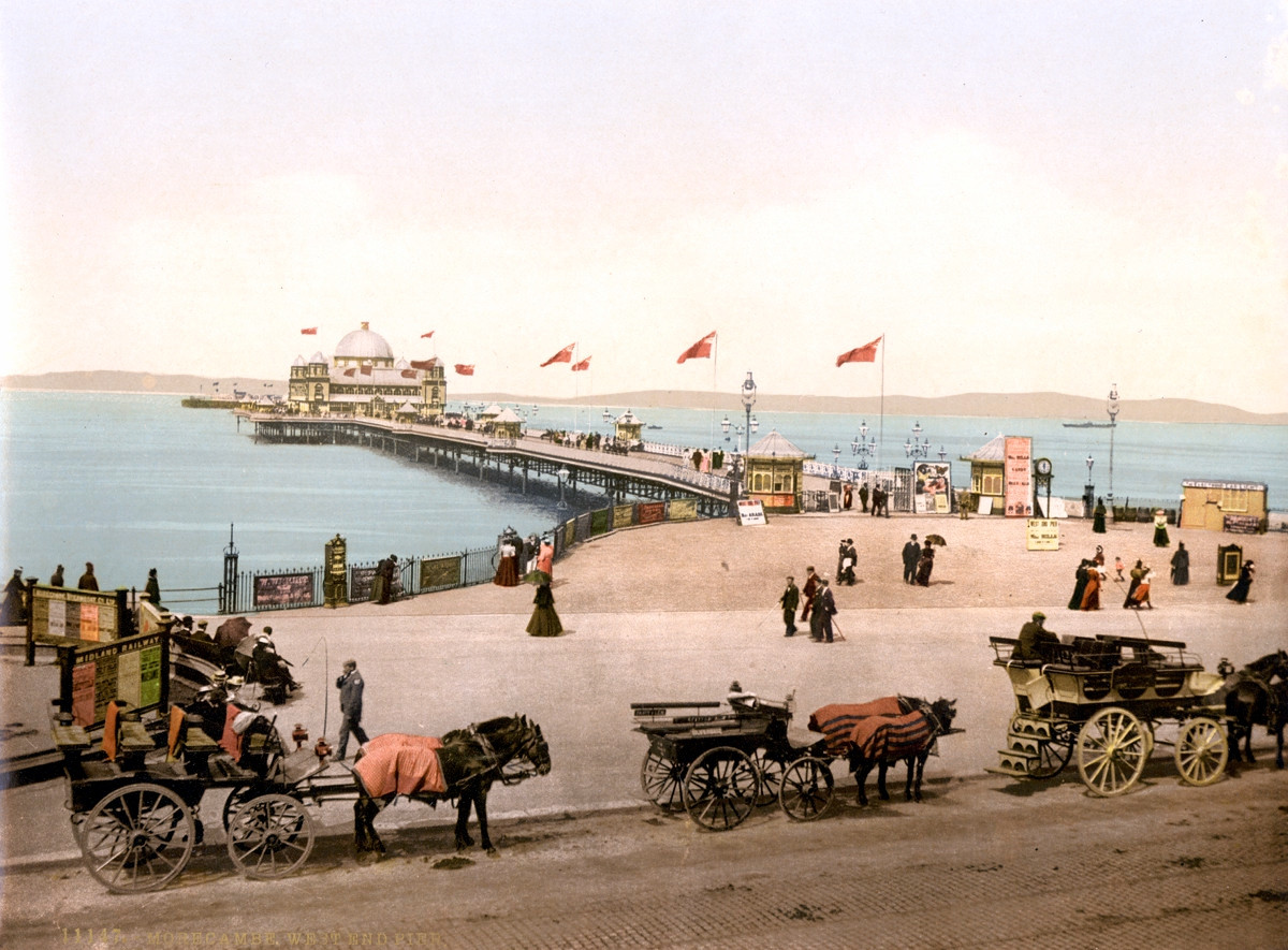 Morecambe West End Pier, England, 1895