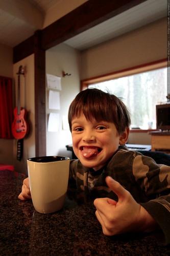 nick drinks tea now