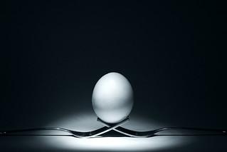 B&W Cradled Egg
