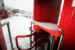 SHEFFIELD FC snow on the turnstile